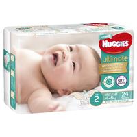 Huggies Ultimate Nappies Bulk Value Box - Size 2 Infant (192) image