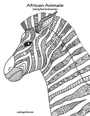 african animals coloring book for grown