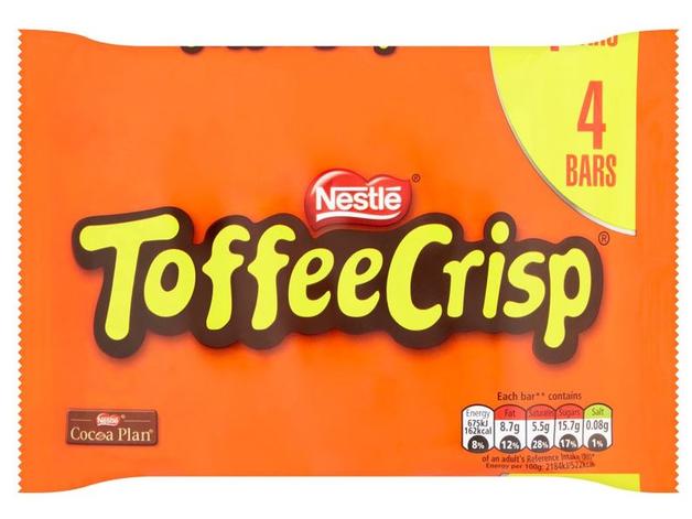 Nestle Toffee Crisp 31g 4pk
