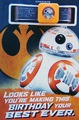 Star Wars: Interactive Sound Birthday Card - Droid