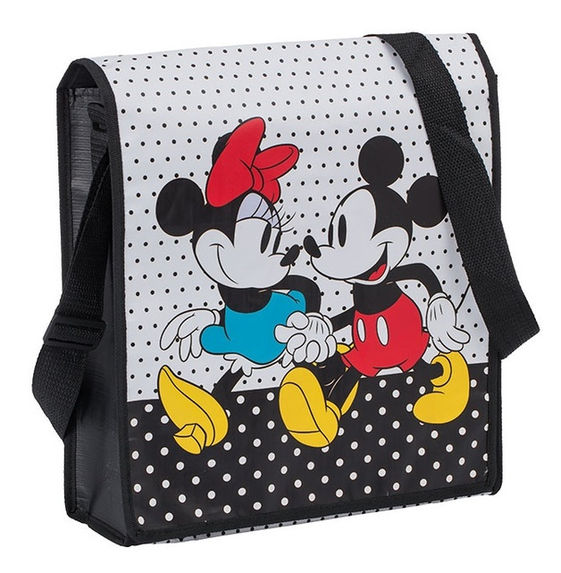Disney: Mickey & Minnie Recycled Messenger Tote