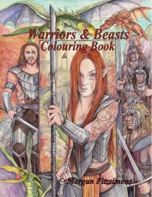 Warriors and Beasts Colouring Book by Morgan Fitzsimons image