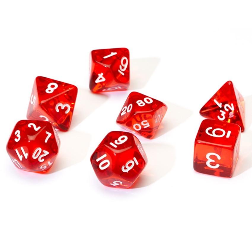 Sirius Dice: Polyhedral Dice Set - Translucent Red image