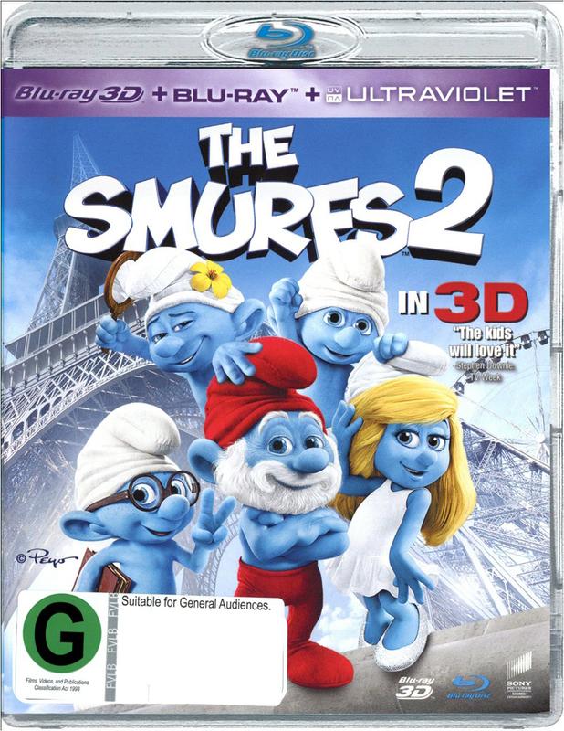 The Smurfs 2 in 3D on Blu-ray, 3D Blu-ray, UV