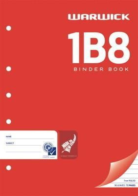 Warwick 1B8 36lf 7mm A4 Punched Exercise Book