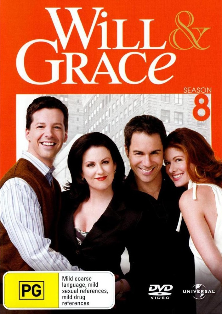 Will & Grace - Season 8 (4 Disc Set) on DVD image