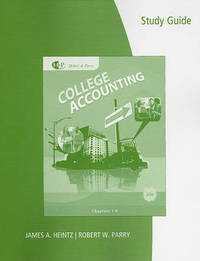 Study Guide and Working Papers for College Accounting by James A. Heintz image
