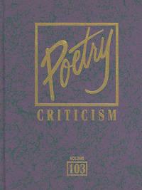 Poetry Criticism, Volume 103 image