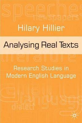 Analysing Real Texts by Hilary Hillier image