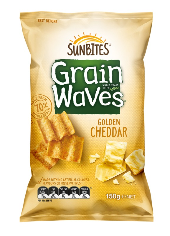 Sunbites Grain Waves - Golden Cheddar (150g)