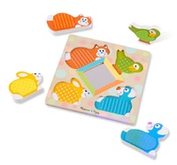 Melissa & Doug: Peek-a-Boo - Touch & Feel Puzzle