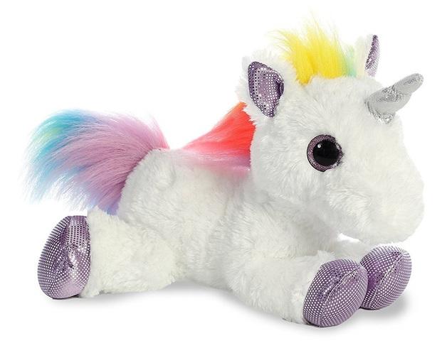 Aurora: Sparkle Tales - Rainbow Unicorn Flopsie (30cm)
