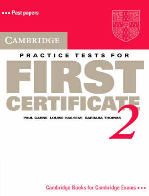 Cambridge Practice Tests for First Certificate 2 Student's book by Paul Carne image