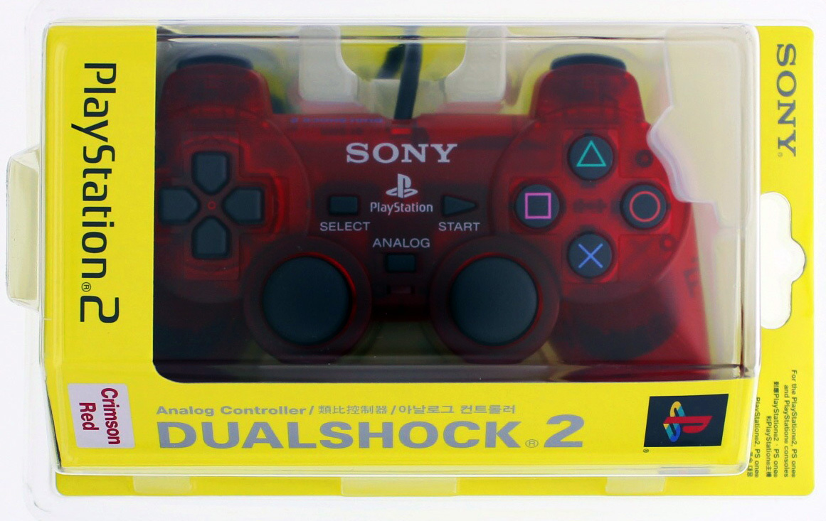 Official Sony Dual Shock 2 Controller: Crimson Red for PS2 image