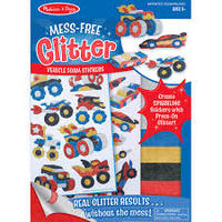 Melissa & Doug: Mess Free Glitter - Vehicles