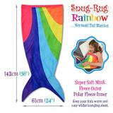 Snug-Rug Rainbow Mermaid Tail Blanket