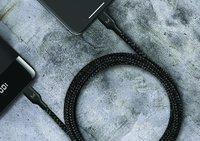 MOYORK CORD+ 2m USB-A to Lightning Nylon Cable - Raven Black