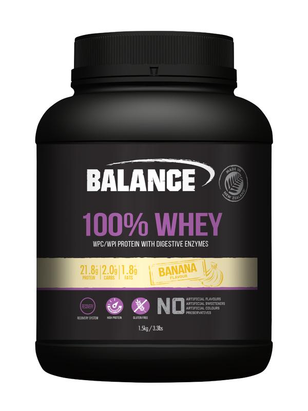 Balance 100% Whey Protein Powder - Banana (1.5kg)