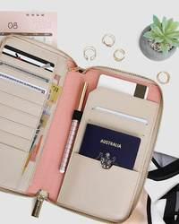 Belle and Bloom: Wilona Travel Wallet - Latte