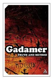 Truth and Method by Hans Georg Gadamer image