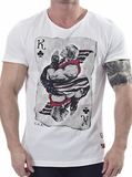 Street Fighter Ken of Clubs T-shirt (X-Large)