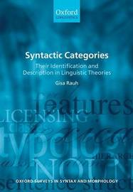 Syntactic Categories by Gisa Rauh
