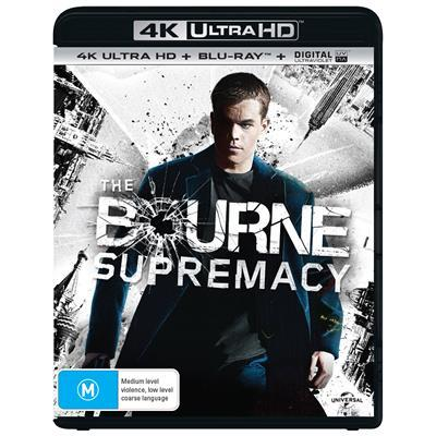 The Bourne Supremacy on Blu-ray, UHD Blu-ray