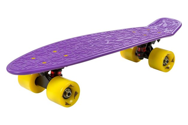 Flybar: Mini Cruiser Skateboard - Purple/Yellow