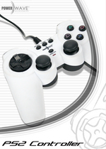 Powerwave Controller Solid White for PlayStation 2