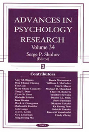 Advances in Psychology Research by Serge P. Shohov image