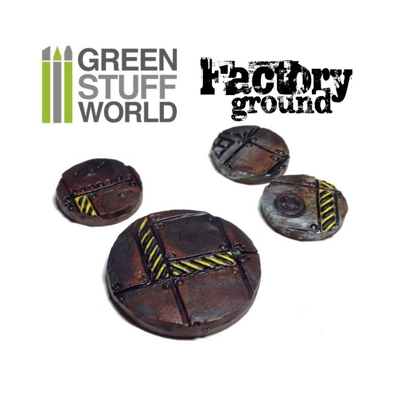 Green Stuff World Texture Rolling Pin: Factory Ground image