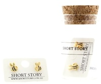 Short Story: Funky Play Earrings - Gold Bumble Bee