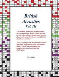 British Acrostics Vol. III by F a McKen
