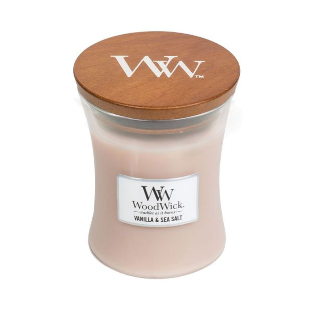 WoodWick Vanilla & Sea Salt Candle - Medium