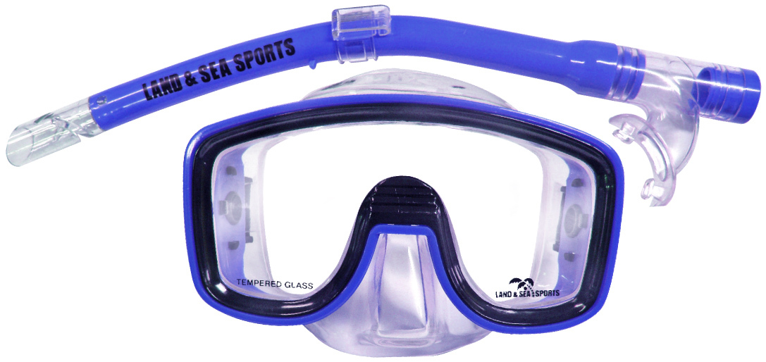 Land & Sea Lagoon Mask and Snorkel Set - Junior Fit (Purple) image