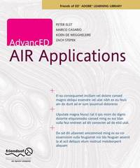 AdvancED AIR Applications by Marco Casario image