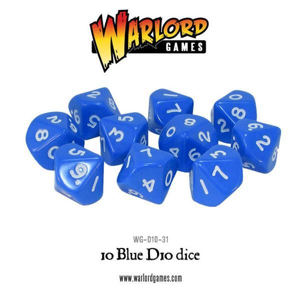 D10 Dice Pack - Blue (10)