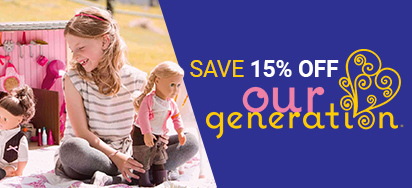 15% off Our Generation Dolls!