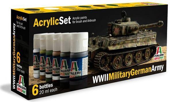 Italeri Acrylic Paint Set: WWII German Army