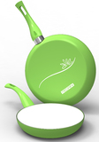 Pedrini Colour Collection Frypan Duo Pack (Green)