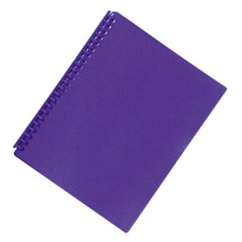 FM A4 20 Pocket Refillable Display Book - Purple