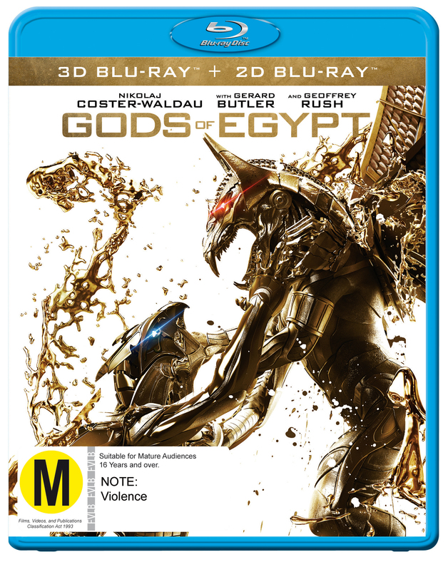 Gods Of Egypt on Blu-ray, 3D Blu-ray