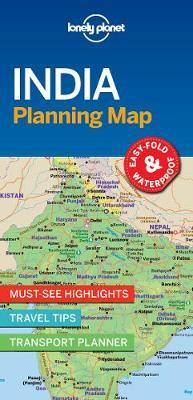 India Planning Map by Lonely Planet