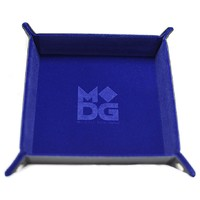 Velvet Folding Dice Tray: - Blue (10x10)