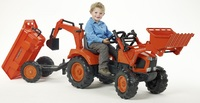 Falk: Kubota Pedal Tractor - Backhoe with Excavator