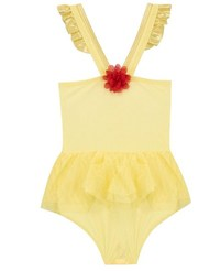 Disney: Beauty And The Beast Belle Girls Swimming Costume - 4-5 years image