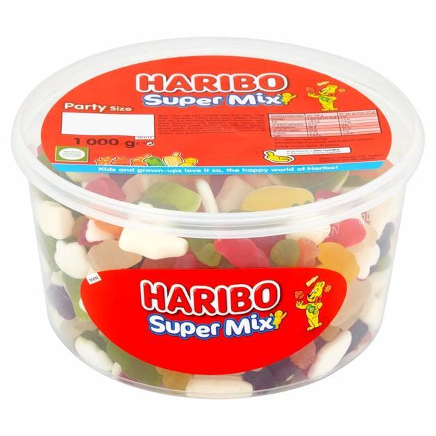 Haribo Supermix Sharing Drum (1kg)