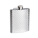 Hip Flask Diamond Pattern (8 Oz/236 ml)