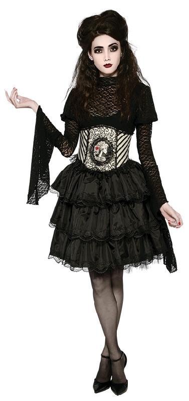Halloween Mix and Match Black Ruffle Skirt (Size Standad)
