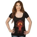 World of Warcraft Horde Silhouette Women's Scoop Tee (Small)
